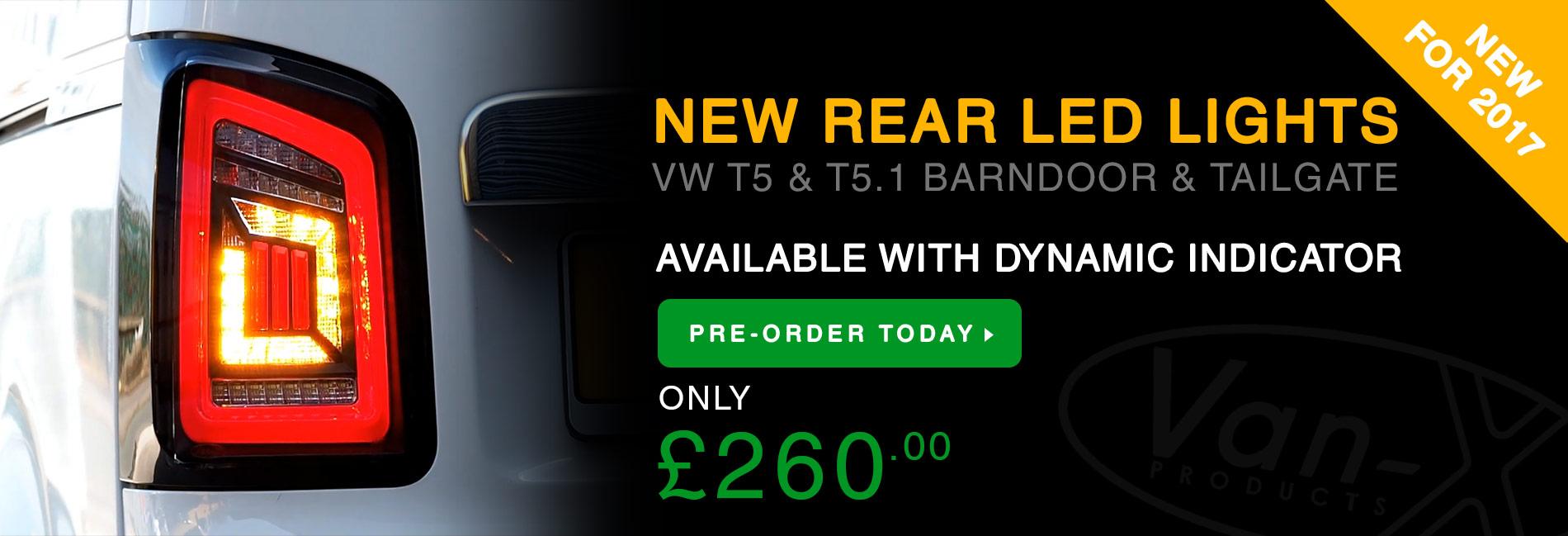 BRAND NEW: VW T5 & T5.1 DYNAMIC REAR LED LIGHTS