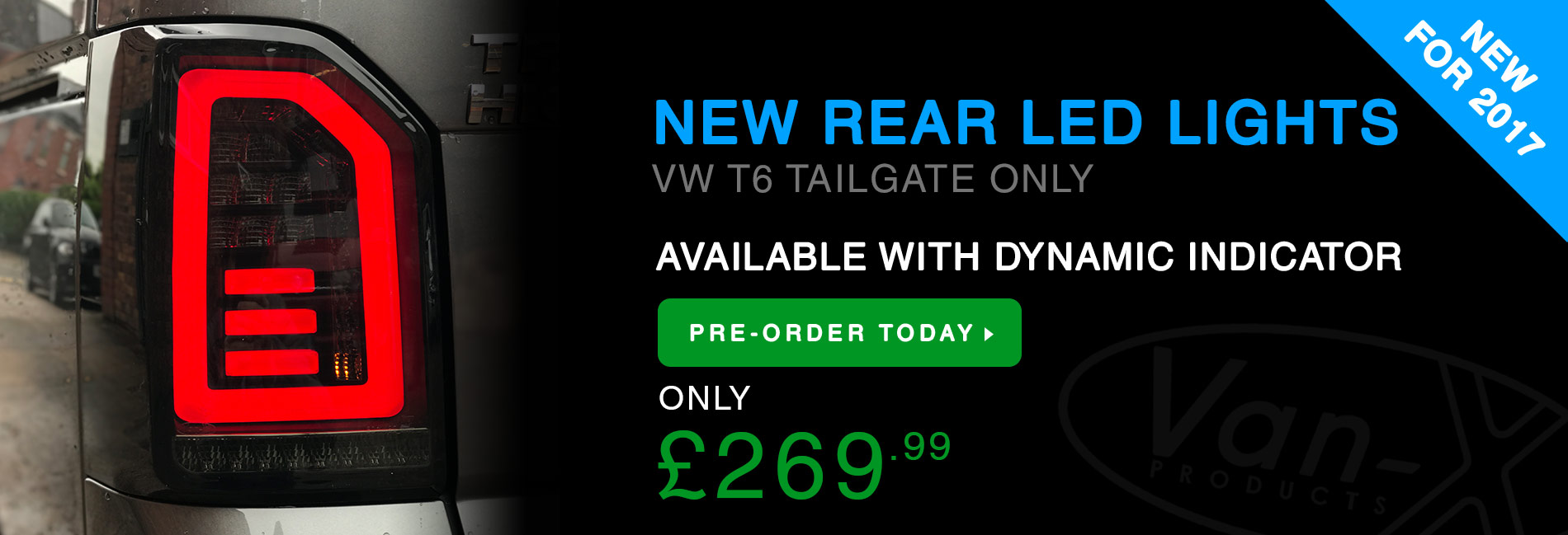 BRAND NEW: VW T6 DYNAMIC REAR LED LIGHTS