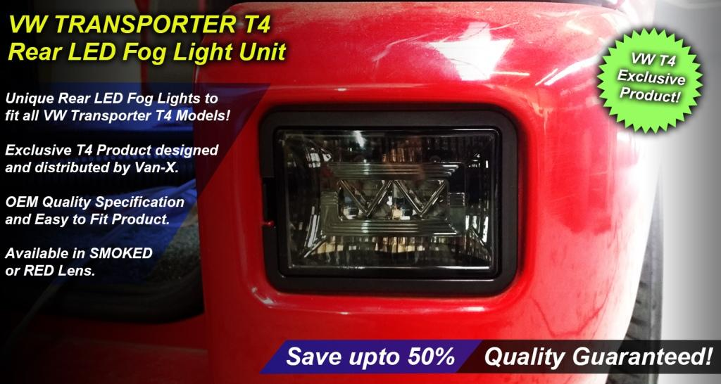Exclusive Van-X VW T4 Rear LED Fog Light Unit Product.