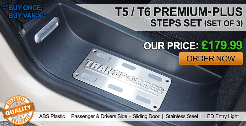 VAN-X Volkswagen VW T5 / T6 Transporter Premium Plus Steps Set | ONLY £179.99 | ORDER BY 4PM FOR NEXT DAY DELIVERY