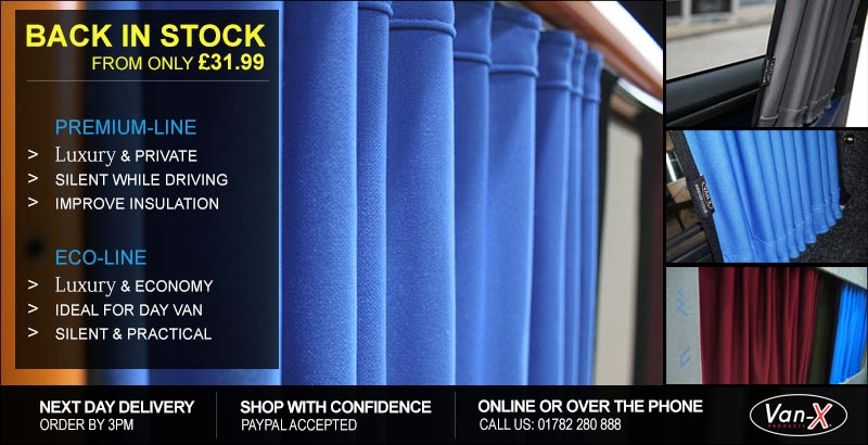 VAN-X Premium Line Curtains | 4 Colours Available | Fully Black-Out | FROM £40 | LIMITED OFFER