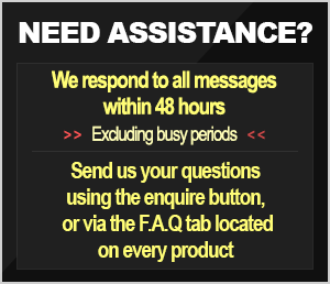 NEED ASSISTANCE? Submit questions using either the enquire button, or the FAQ section located within every product page.