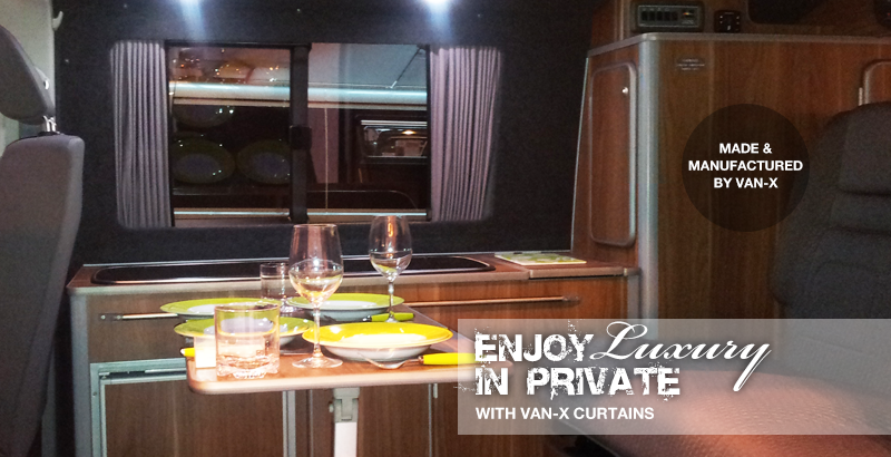 Exclusive to Van-X Curtain Kits.