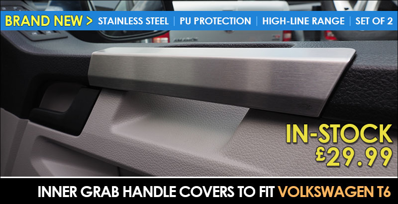 BRAND NEW: VAN-X Volkswagen VW T6 Transporter Grab Handle Covers- Stainless Steel | Protective | HIGHLINE Range | £29.99