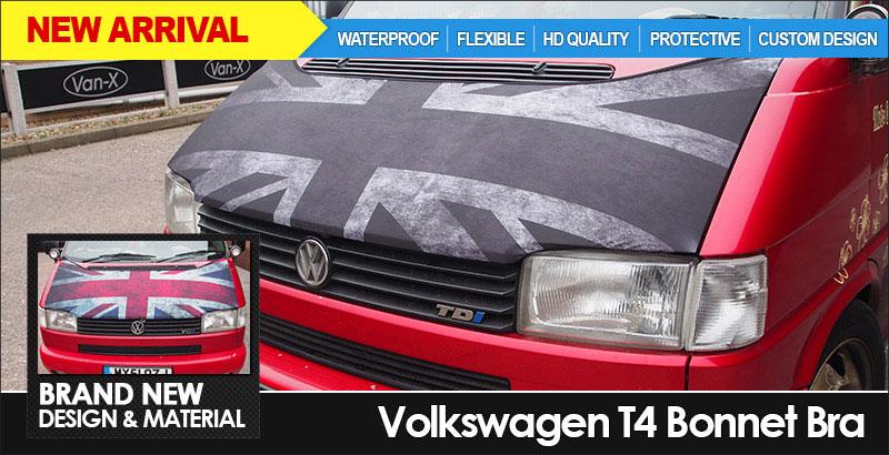 BRAND NEW: VAN-X Volkswagen VW T4 Transporter Bonnet Bra - Waterproof | HD | Custom | Flexible | Protective | £34.99