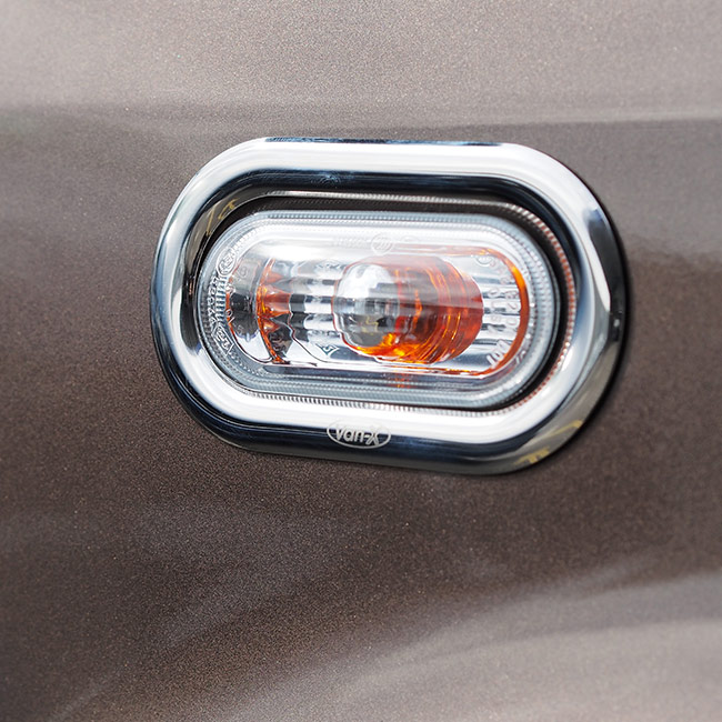 Stainless Steel Indicator Surrounds For VW Caddy-0