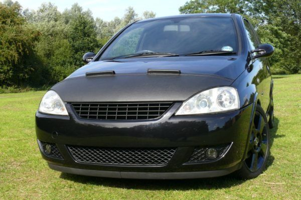 Half Bonnet Bra + Wind Deflectors for Vauxhall Corsa C-2900