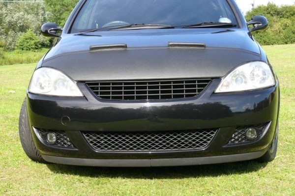 Half Bonnet Bra + Wind Deflectors for Vauxhall Corsa C-1187