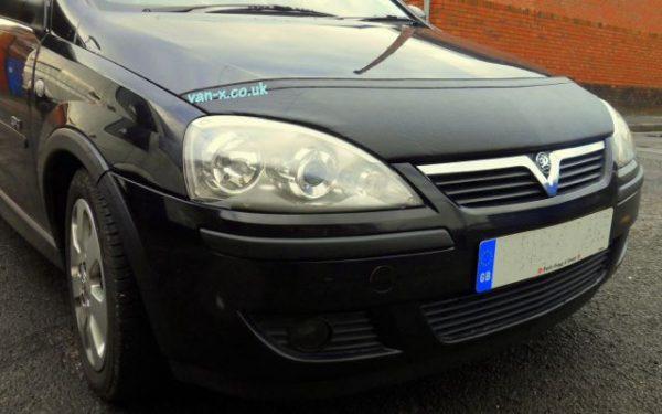 Half Bonnet Bra / Cover Black for Vauxhall Corsa C -2903