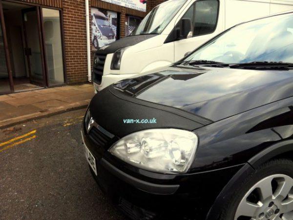 Half Bonnet Bra / Cover Black for Vauxhall Corsa C -2902