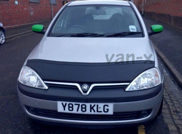Half Bonnet Bra / Cover Black for Vauxhall Corsa C -1188