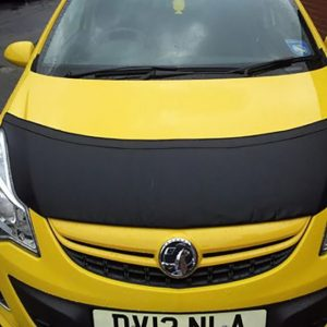 Half Bonnet Bra / Cover Black for Vauxhall Corsa D-19514