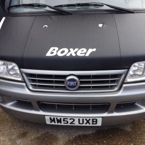 Bonnet Bra / Cover Black Boxer Logo for Peugeot Boxer-2086