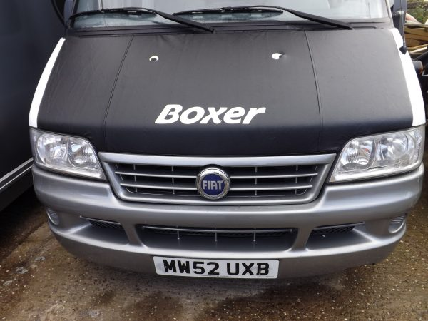 Bonnet Bra / Cover Black Boxer Logo for Peugeot Boxer-2086