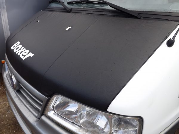 Bonnet Bra / Cover Black Boxer Logo for Peugeot Boxer-2088