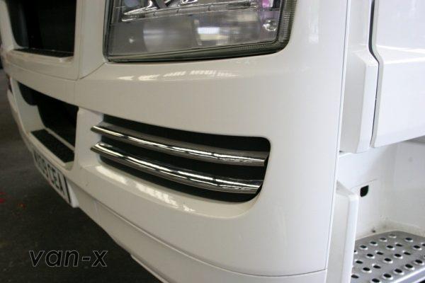 Stainless Steel Front Fog Light Trims (4 Pcs) for MAN TGX-3418