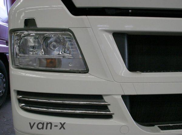 Stainless Steel Front Fog Light Trims (4 Pcs) for MAN TGX-3413