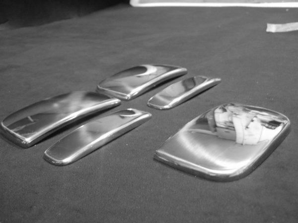 Door Handle Covers (3 Pcs) for Citroen Berlingo / Peugeot Partner Stainless Steel -3406