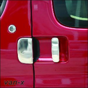 Door Handle Covers (3 Pcs) for Citroen Berlingo / Peugeot Partner Stainless Steel -3405