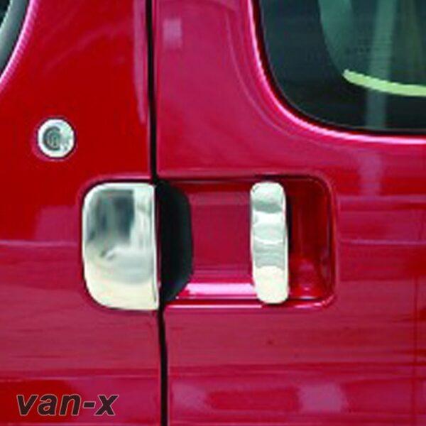 Door Handle Covers (3 Pcs) for Citroen Berlingo / Peugeot Partner Stainless Steel -0