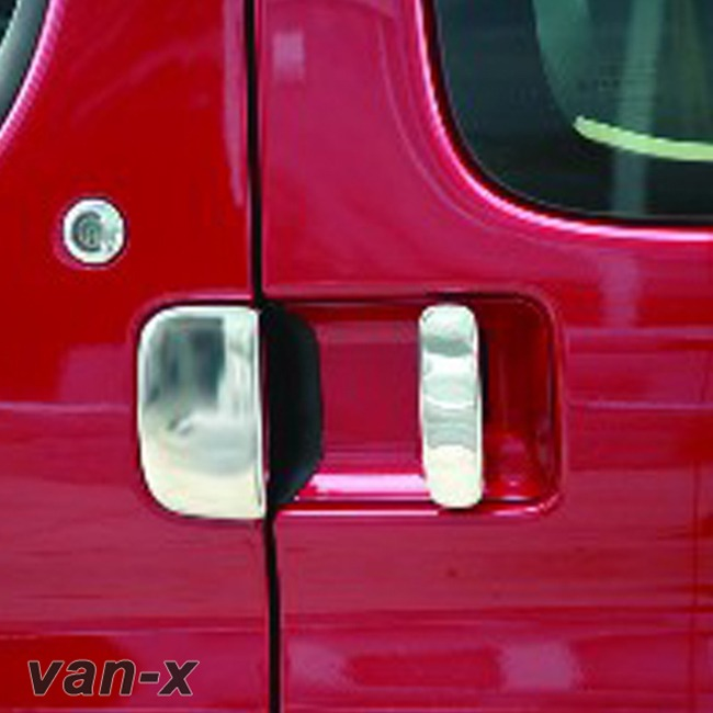 Door Handle Covers (3 Pcs) for Citroen Berlingo / Peugeot Partner Stainless Steel -0