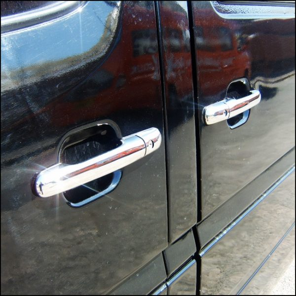 Door Handle Covers (4 Pcs) for Mercedes Sprinter MK2 Stainless Steel -3880
