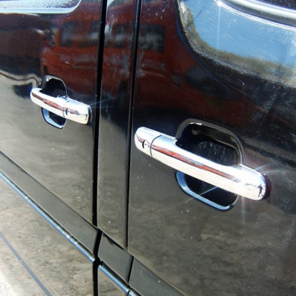 Door Handle Covers (4 Pcs) for Mercedes Sprinter MK2 Stainless Steel -0