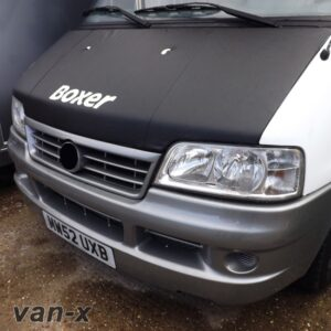 Bonnet Bra / Cover Black Boxer Logo for Peugeot Boxer-0