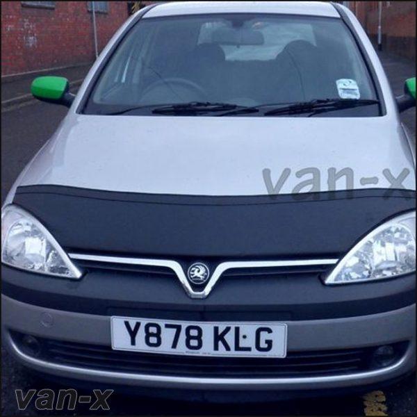 Half Bonnet Bra / Cover Black for Vauxhall Corsa C -2857
