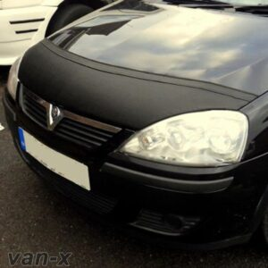 Half Bonnet Bra / Cover Black for Vauxhall Corsa C -0