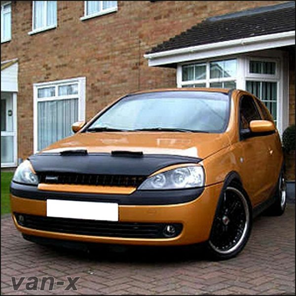 Half Bonnet Bra + Wind Deflectors for Vauxhall Corsa C-2856