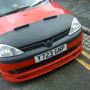 Half Bonnet Bra + Wind Deflectors for Vauxhall Corsa C-2882