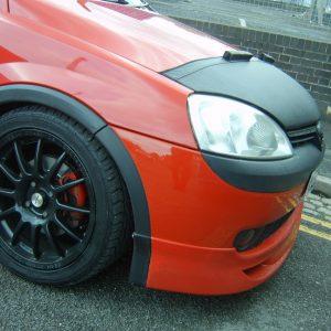 Half Bonnet Bra + Wind Deflectors for Vauxhall Corsa C-2883