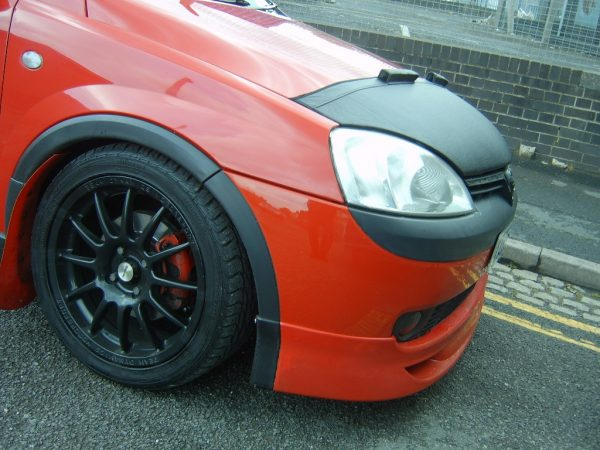 Half Bonnet Bra + Wind Deflectors for Vauxhall Corsa C-2883