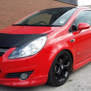 Half Bonnet Bra / Cover Black for Vauxhall Corsa D-2849
