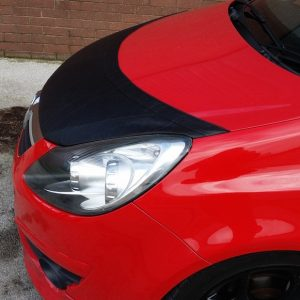 Half Bonnet Bra / Cover Black for Vauxhall Corsa D-2850