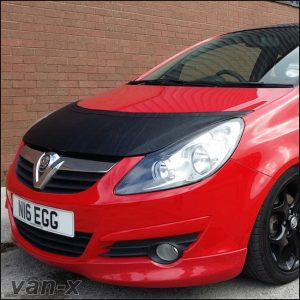 Half Bonnet Bra / Cover Black for Vauxhall Corsa D-2854