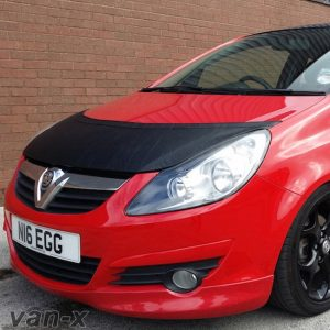 Half Bonnet Bra / Cover Black for Vauxhall Corsa D-0