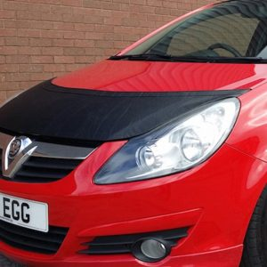 Half Bonnet Bra / Cover Black for Vauxhall Corsa D-19515