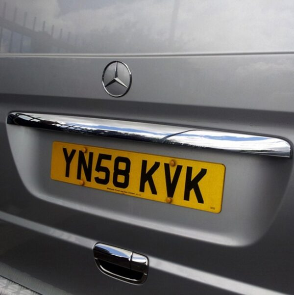 Tailgate Number Plate Trim for Mercedes Vito-0