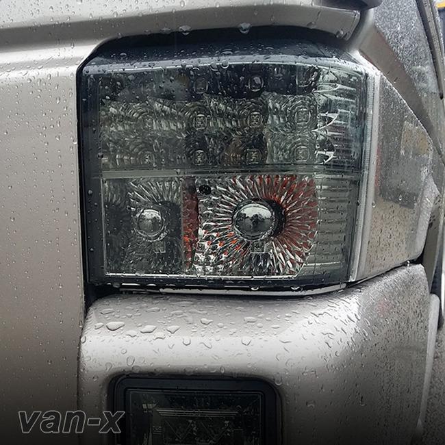 Rear LED Light Unit Smoked / Chrome for VW T4 Transporter-0