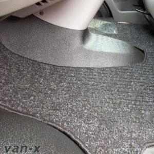 Black Floor Mats for VW T5 Transporter-0