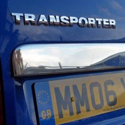 Stainless Steel Number Plate Trim for Barndoor VW T5 Transporter-5964