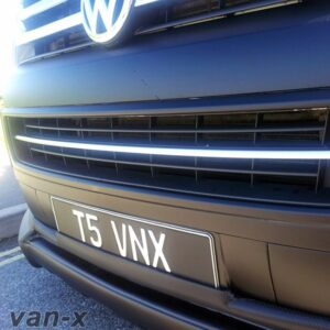 Front Bumper Grille Trim Stainless Steel for VW T5.1 Transporter-0