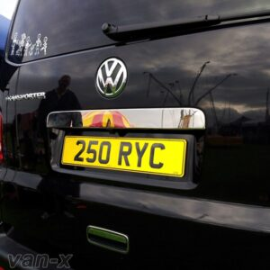 Number Plate Trim for Tailgate VW T5 Transporter Stainless Steel -0