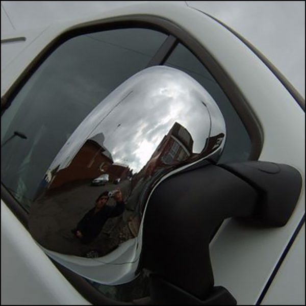 Stainless Steel Mirror Covers for Vauxhall Vivaro-7471