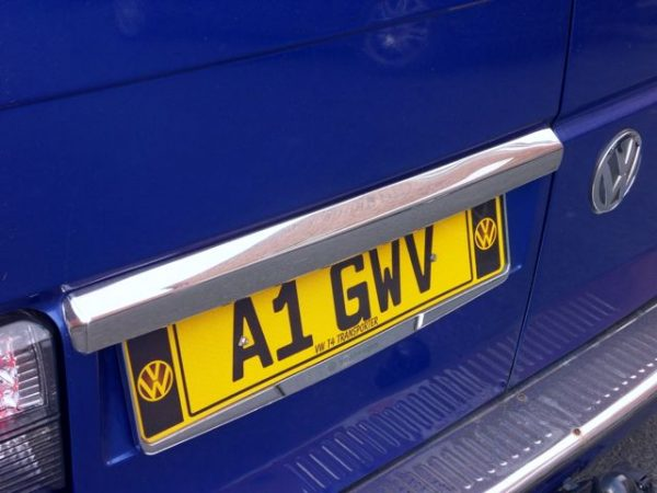 Barndoor Number Plate Trim for VW T4 Transporter Stainless Steel -2230