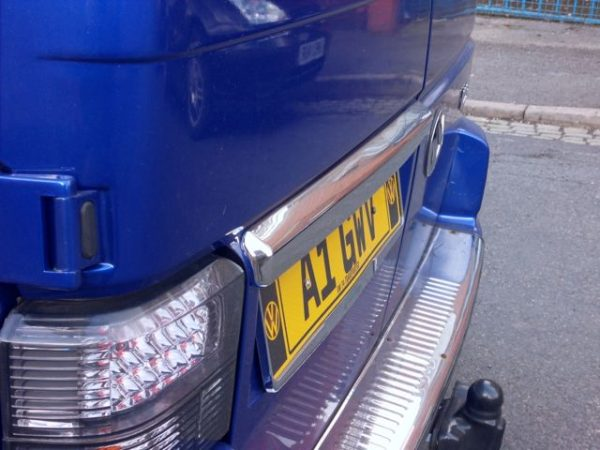 Barndoor Number Plate Trim for VW T4 Transporter Stainless Steel -2229