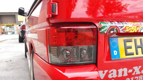 Rear LED Light Unit Smoked / Red for VW T4 Transporter-1262