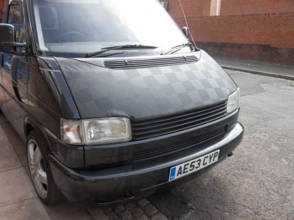Bonnet Bra / Cover Black Chequered for VW Transporter T4-2961